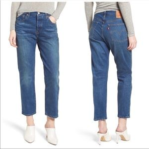 Levi's 501 High Waist Crop Jeans Rebel 30x26 NWT